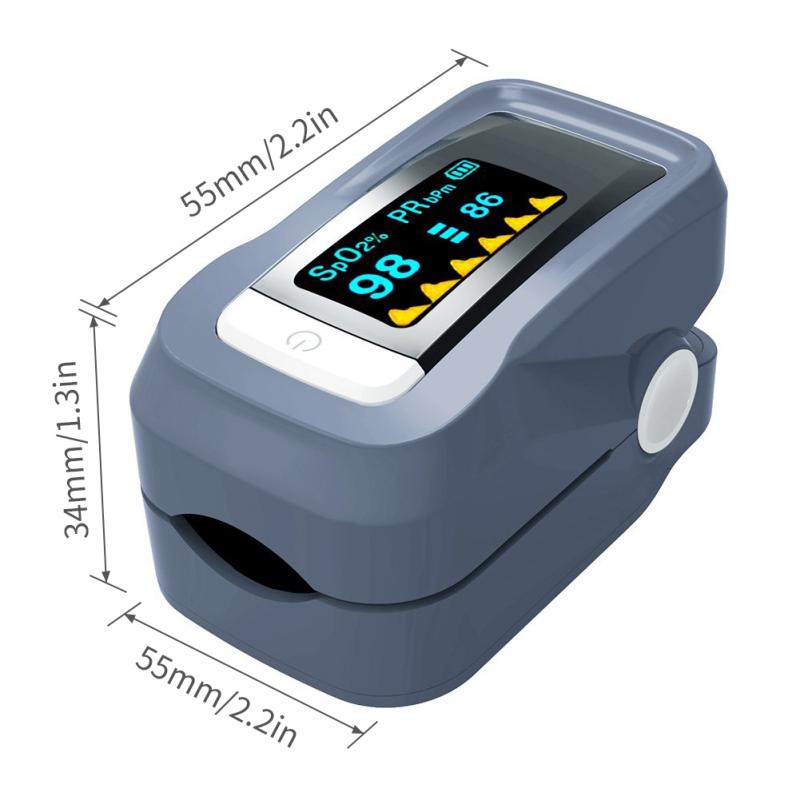 Portable Mini Finger Blood Pulse Oxygen Meter Oxygen Saturation Monitor Blood Oximeter Blood Pressure Meter LED