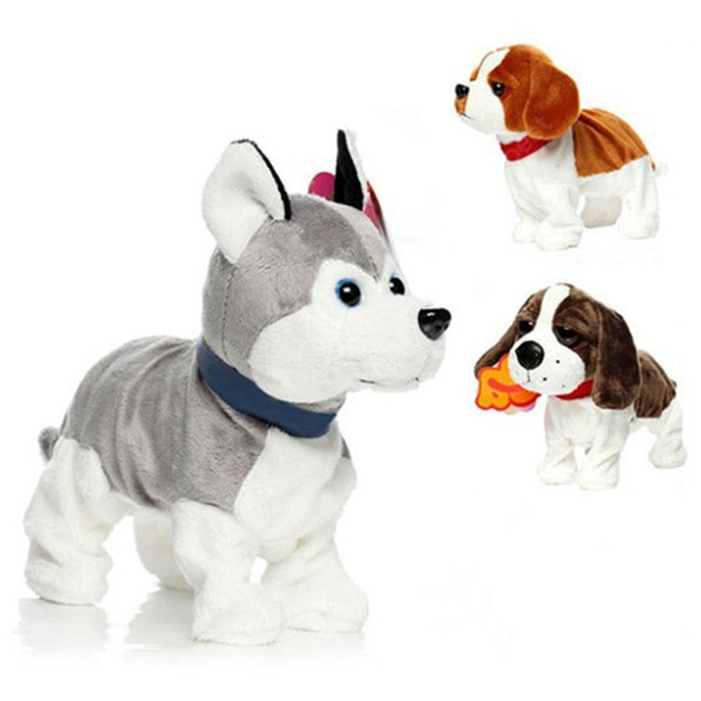 Plush Toy Electronic Dog Toys Sound Control Robot Dog Bark Stand Walk Cute Interactive Toy For Kid Electronic Husky Toy Children