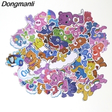 PC40 53pcs/set Care Bears Scrapbooking Stickers Decal For for Guitar Laptop Luggage Car Fridge Graffiti Sticker