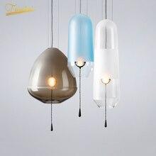 цена Modern LED Pendant Lights Lighting Color Glass Ball Pendant Lamps Home Deco Living Room Crystal Hanging Lamp Kitchen Fixtures онлайн в 2017 году