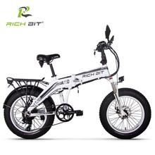 RICHBIT 500W 48V 20inch fat tire ebike electric bicycle folding snow suspension turn signal mirror Europe fast