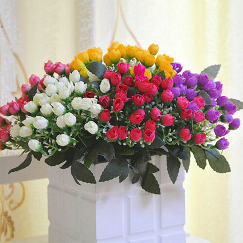 Искусственные цветы, букет невесты, искусственные цветы, украшение для свадьбы, домашней вечеринки, 36 головок