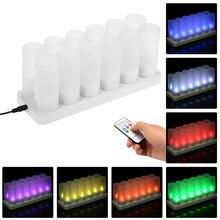 Vela recarregável conduzida colorida da vela do diodo emissor de luz da vela com velas flameless do diodo emissor de luz do tealight de usb da chama cintilante