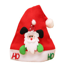 Nowe naklejki świąteczne czapki z kreskówek dla czapki dla dzieci dla dzieci czapki św Mikołaja akcesoria czapki ozdoby czapki ozdoby świąteczne tanie tanio Christmas Decoration