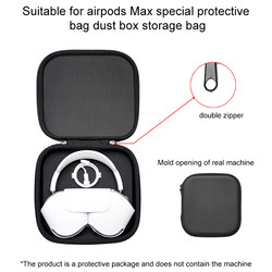 Earphones Protector For Apple AirPods Max Protective Bag Cool Black Quality Hardware Accessories Hot Sale Shockproof Protector