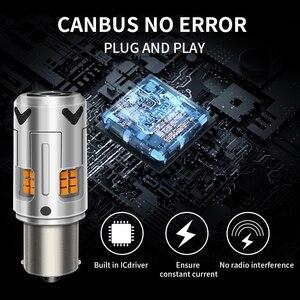 Image 2 - 2X yok Hyper flaş Amber 1156 BA15s P21W 7507 LED ampuller araba için Honda, Hyundai, Nissan, mitsubishi ön veya arka dönüş sinyali işık