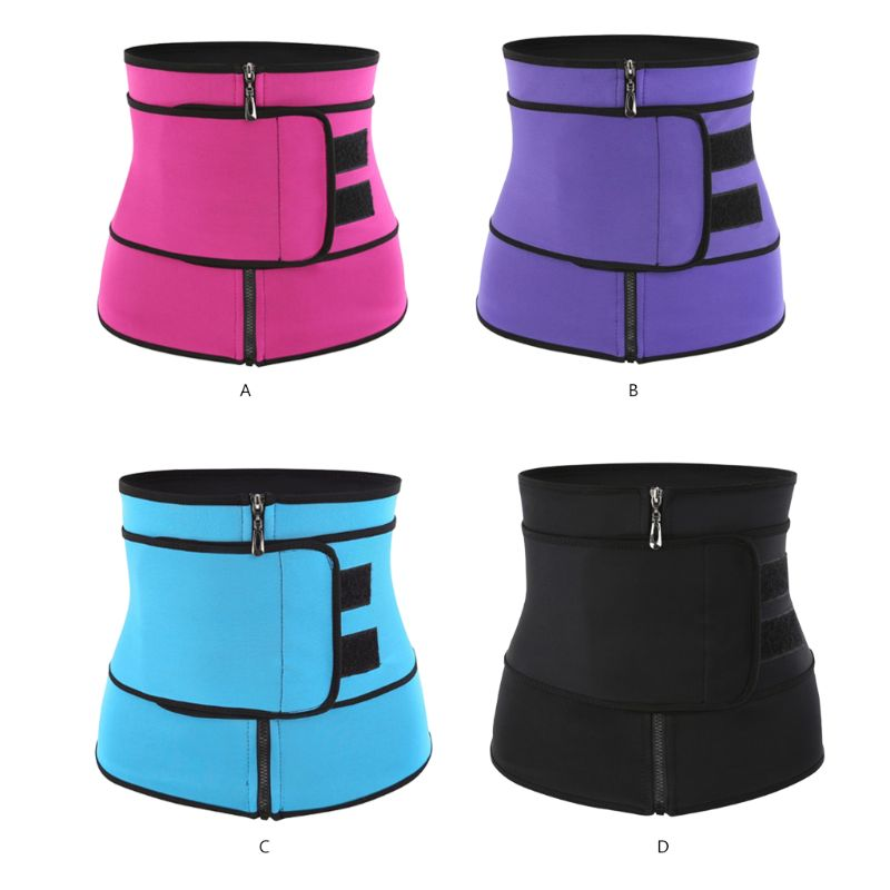 Womens Plus Size Waist Trainer Tummy Belt Body Shaper Adjustable Hourglass Stomach Fat Burner Workout Weight Loss Bandage S-2XL