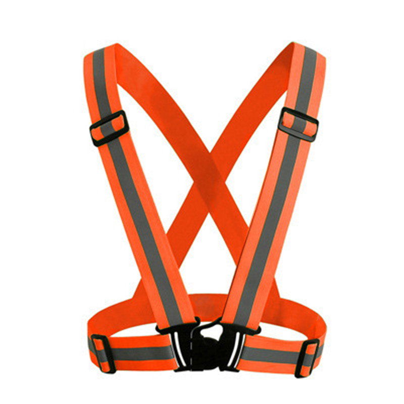 Reflective Straps Running Night Riding A Reflective Vest Safety Reflective Elastic Can Be Adjusted