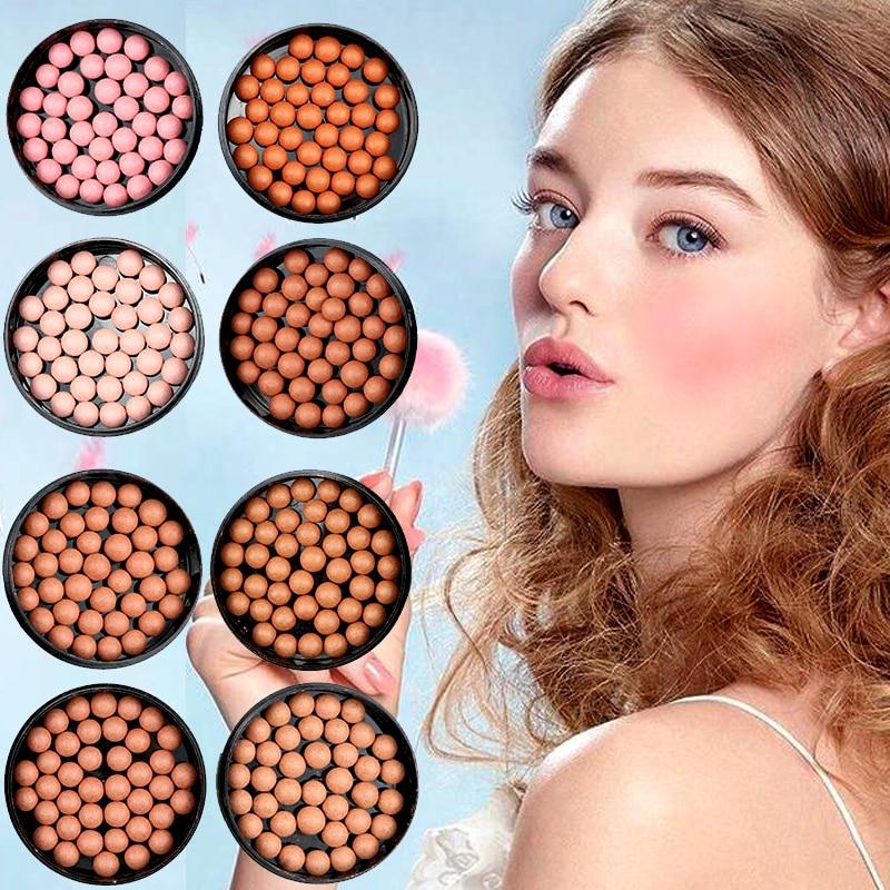 Makeup Face Matte Blusher Ball 3 In 1 Blush Eyeshadow Contour Cosmetics Powder Balls Blush Makeup Full Professional Makeup D43