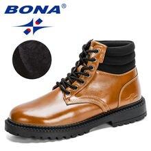 Bona/Новинка 2020 года; Дизайнерская модная обувь; Мужские Ботильоны;
