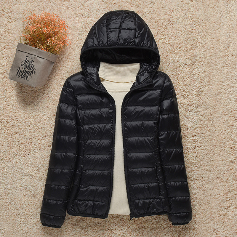 2021 New Women Thin Down Jacket White Duck Down Ultralight Jackets Autumn And Winter Warm Coats Portable Outwear 1