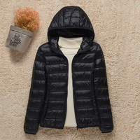 2021 New Women Thin Down Jacket White Duck Down Ultralight Jackets Autumn And Winter Warm Coats Portable Outwear 2