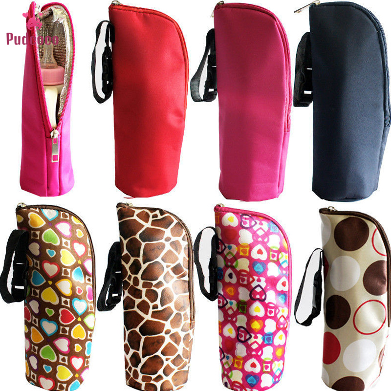 Pudcoco Baby Bottle Holder Case Feeder Lagging Bag Food Warmer Newborn Baby Keep Warm Infant Feeding Bottle Bag Case Mulit-Color
