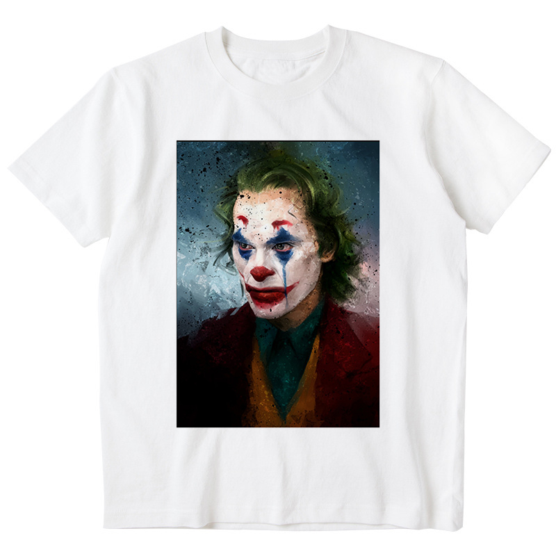Trendy Men T Shirts Joker Image Everyday Wear Men Tops T Shirts Trendy Street Comfortable Crew Neck Short Sleeves Men Tee