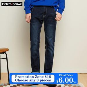 Image 1 - Metersbonwe ישר ג ינס גברים מזדמן ג ינס החורף חדש מזדמן נוער פשוט עיצוב מגמת Slim ג ינס Mens מכנסיים זכר מכנסיים