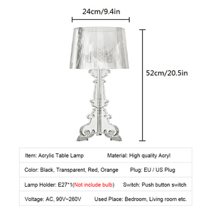 Image 5 - אקריליק מנורת שולחן ליד מיטת גביש מנורת Led שולחן מנורת Lamparas De Mesa Para El Dormitorio Tafellamp סלון חדר שינה מנורה e27