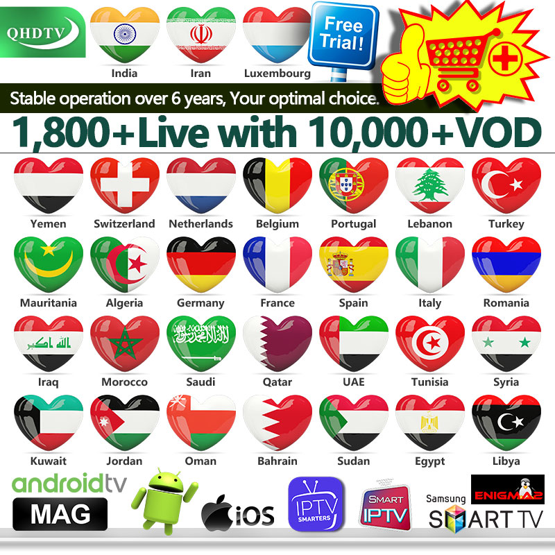 1 Year IPTV M3u IPTV France Arabic QHDTV Code IPTV Italy Spain Belgium Netherlands German for Android M3u IPTV Subscription-in Set-top Boxes from Consumer Electronics