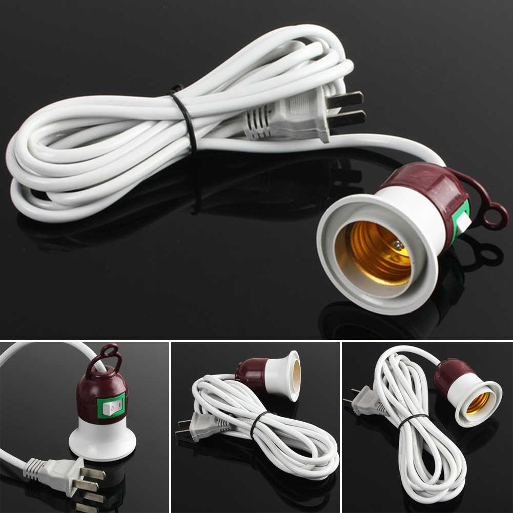 5-150W E27 Plastic Screw Base Round LED Light Bulb Lamp Socket Holder Adapter