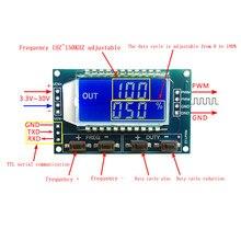 Générateur de Signal PWM 1Hz-150Khz, Module panneau, fréquence d'impulsion, Cycle de service, Module réglable, affichage LCD 3.3V-30V 1Hz-150Khz