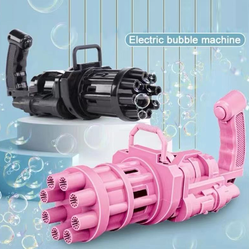 Kids Electric Gatling Bubble Gun Toys Summer Soap Water Bubble Machine Electric Bubble Machine Children Gift Toys Bubble Maker
