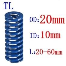Spiral Die Spring Compression-Mould Load Stamping Outer-Diameter 20mm 10mm Length Blue-Light