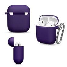 Siliconen Gevallen Voor Apple Airpods 1 2 Beschermende Shockproof Draadloze Oortelefoon Case Cover Voor Apple Air 2 1 Case Opladen doos Zakken