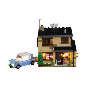 Light Set For 4 Privet Drive Burrow Building Blocks Model - USB Led Light Kit Compatible With 75968 (NOT Included The Model) image