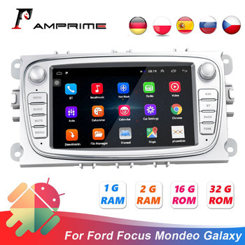 AMPrime 2 Din Car Multimedia player 7 Android For Ford/Focus/C-Max/Mondeo/Galaxy Autoradio GPS Wifi Car Radio Mirrorlink FM USB image