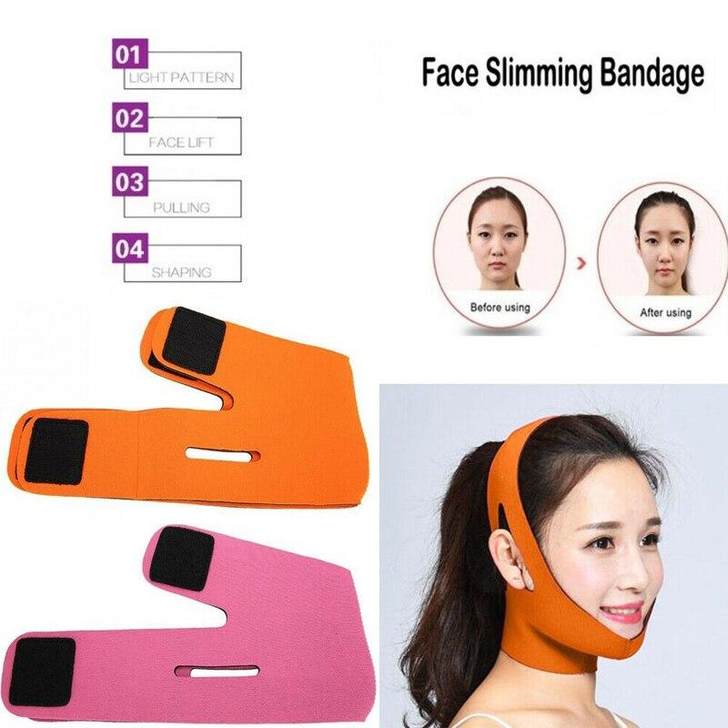 V Shape Thin Face Lift Massager Face Slimming Mask Belt Facial Massager Tool Anti Wrinkle Reduce Double Chin Bandage Face Shaper