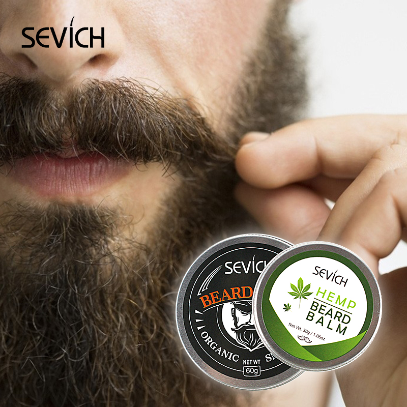 Sevich 60g Beard Blam For Beard Care Moisturizing Repair Split Ends Beard Soften Beard Conditioner Moustache Beard Shaping Cream