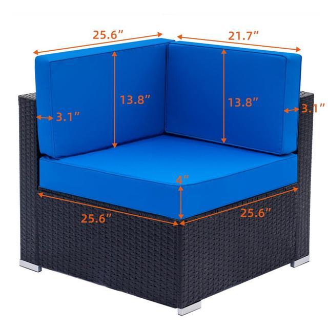 Patio Weaving Rattan Sofa Set 3