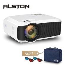 ALSTON T23 serisi LED projektör taşınabilir Video HD Mini Beamer HDMI VGA ev sineması isteğe bağlı T22 projektör