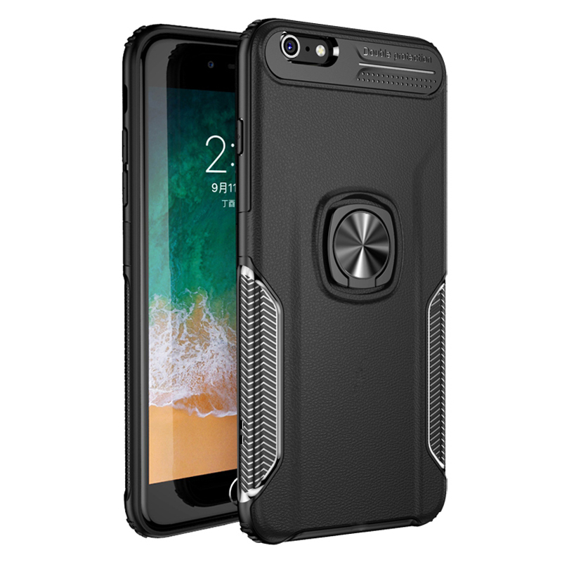 Galleria fotografica Shockproof Armor Ring Case For iPhone 6 S 6S 7 8 Plus X XS XR 11 Pro Max 8Plus 7Plus 6Plus iPhone6 Case iPhone7 Stand Back Cover