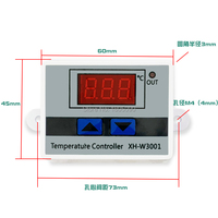 W3001 W3002 DC12V 24V AC110V 220V LED Digital Thermostat Temperature Controller Thermoregulator Heating Cooling Control|Temperature Instruments| |  -