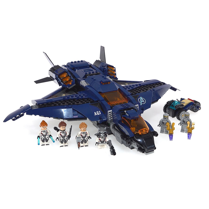 07119 07120 07121 Avengers 4 Endgame Ultimate Quinjet Set Compatible with legoing76130 76129 76126 76131Building Block Brick Toy in Blocks from Toys Hobbies