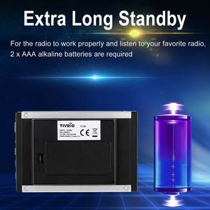 Image 5 - TIVDIO T 101 DAB FM Stereo Radio Pocket Receiver Mini Portable Clock Digital DAB+ RDS Radio Receiver Music Player Earphone F9204