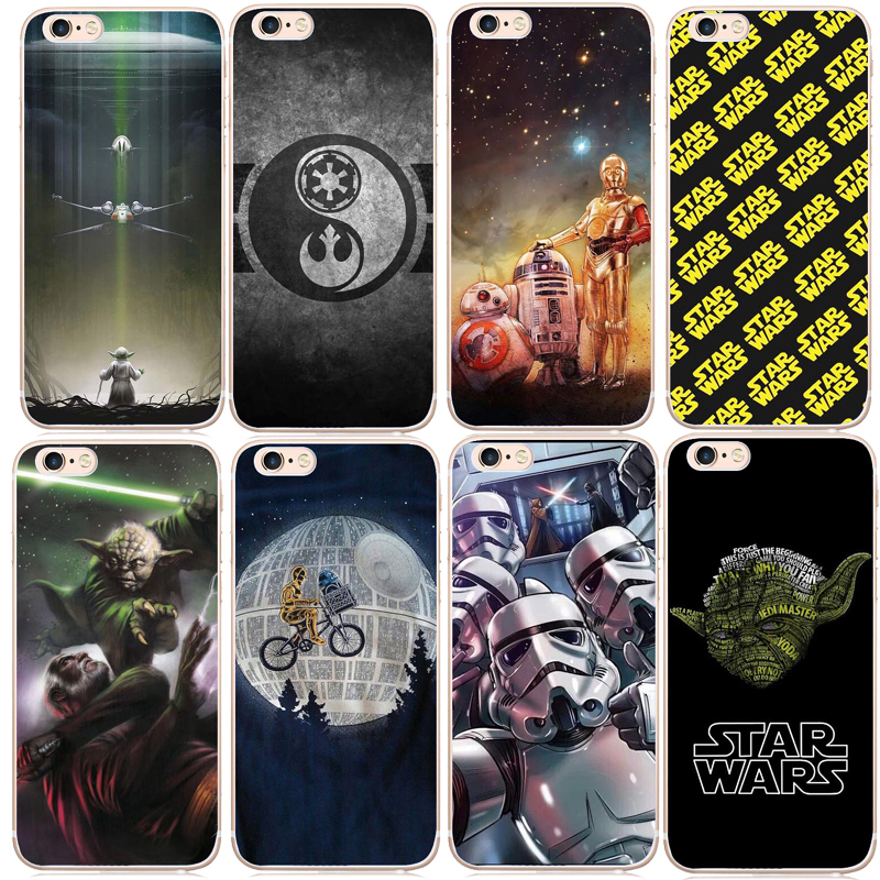Star Wars Marvel Comics Cell Phone Cover Case For iphone8 8Plus 7 7Plus 6S 6SPlus 5S SE X Star Wars Bb-8 R2D2 Case image