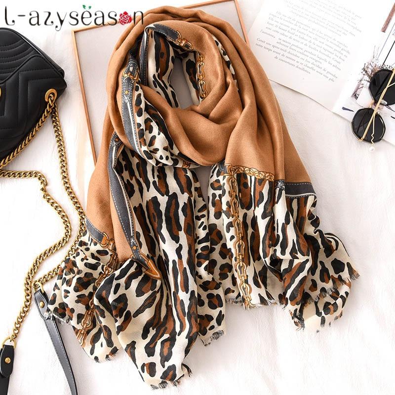 2019 New winter   scarf   women luxury brand head   Scarves     wraps   pashmina cotton warm neckerchief shawls print echarpe hiver femme