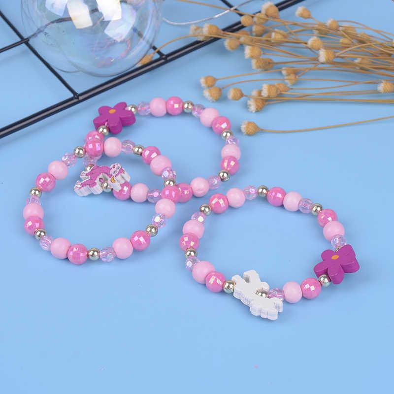 Jolis bijoux pour enfants, bracelet en perles d'animaux colorés en acrylique, 3 pièces, pour fête d'anniversaire, nouvelle collection, bijou cadeau
