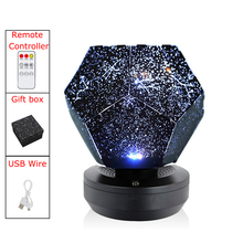 Rechargeable Rotating Remote Control Star Light Night Lights Projector Spin Starry Sky Star Master Children Kids Baby Sleep