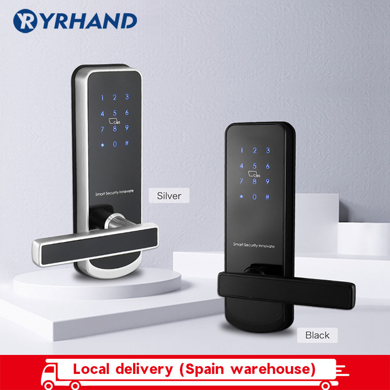 Security Electronic Door Lock, APP WIFI Smart Touch Screen Lock, Bluetooth Digital Code Keypad Lock With 6085 Mortise