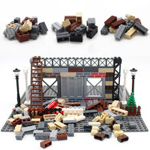 MOC City Plant Build DIY Block Bricks Wall Brick Enlighten Building Blocks Parts Compatible Toys Creative Children Gifts