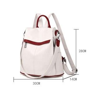 Image 5 - Bayanlar okul sırt çantası kese Dos Femme kadın omuz çantaları kadınlar için geniş tuval kayışı genç kızlar için sırt çantası Mochilas