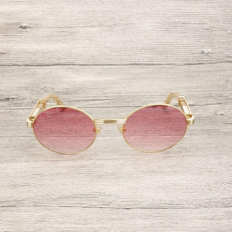 Роскошные золотистые Солнцезащитные очки Мужские аксессуары из нержавеющей стали оправа очки Gafas для клубного вождения прозрачные очки ... - 4