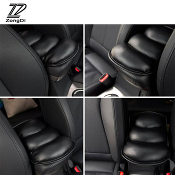 ZD 1pcs Car Styling Armrests Center Console Cover Pad For Volvo S60 V70 XC90 Subaru Forester Peugeot 307 206 308 407 Accessories image