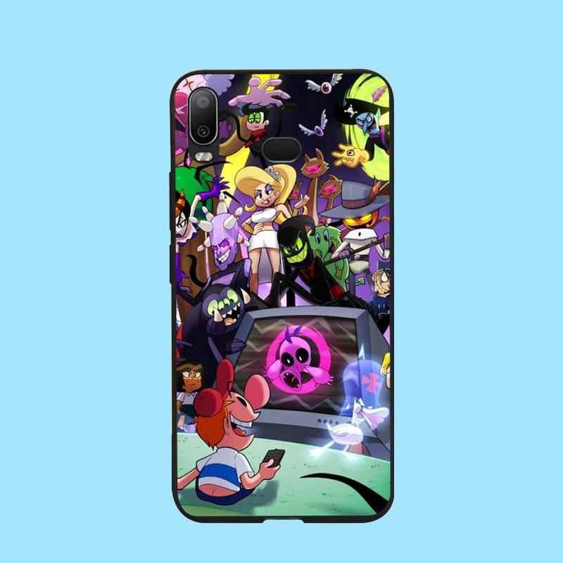 PENGHUWAN Billy Mandy Soft ซิลิโคนโทรศัพท์สีดำกรณีสำหรับ Samsung A10 A20 A30 A40 A50 A70 A71 A51 A6 A8 2018