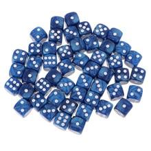 50 peças/set dados de canto redondos de d6 16mm para o brinquedo do jogo do jogo do papel da festa