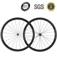 SUPERTEAM Clincher Carbon Wheels 38mm Road Bike Wheelset 3K Matte With DT350 Hub Bicycle Wheel