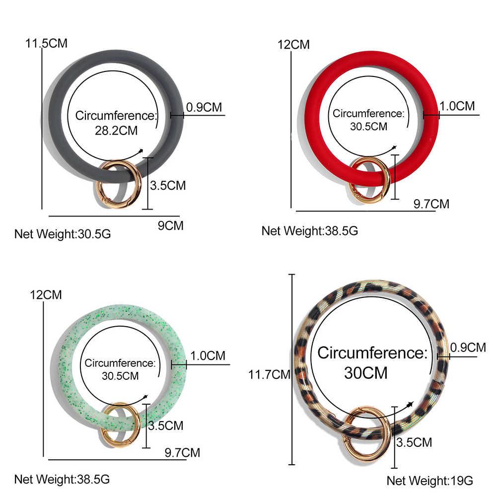Apenas sinta 2019 couro do plutônio o chaveiro wristlet círculo personalizado moda feminina chaveiro pulseira de pulso impressão carro chaveiro atacado
