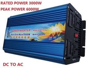 Image 1 - Inversor de potencia de onda sinusoidal pura, fuente de alimentación de transformador de voltaje DC a AC 3000W
